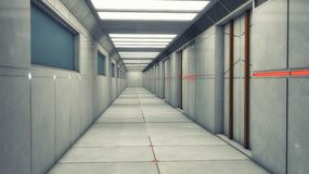 Corridoio moderno e futuristico dell'astronave Fotografia Stock Libera da Diritti