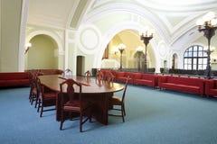 Corridoio nel centro congressi della camera di industriale e di commercio della Russia Immagine Stock Libera da Diritti