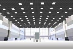 Corridoio nel centro di affari Immagine Stock