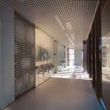Corridoio nell'edificio per uffici moderno Immagine Stock Libera da Diritti