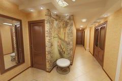 corridoio piano beige Immagine Stock Libera da Diritti