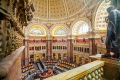Corridoio principale della CC del soffitto della Biblioteca del Congresso Immagine Stock Libera da Diritti