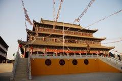 Corridoio principale di un tempiale buddista Immagine Stock Libera da Diritti
