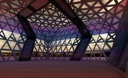 Corridoio progettato moderno architettonico per il concerto royalty illustrazione gratis