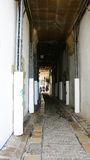 Corridoio provvisorio per gli impianti Immagine Stock