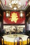 Corridoio reale cinese di banchetto Fotografia Stock