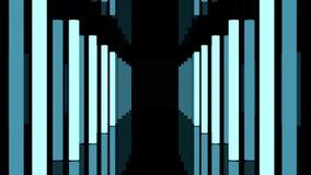 Corridoio scuro lungo con le lampade di lampeggiamento stock footage