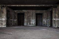 corridoio spaventoso dell'ascensore fotografia stock