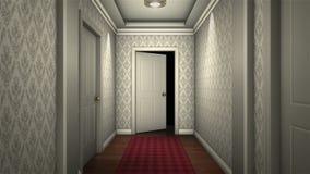Corridoio spaventoso dell'hotel illustrazione vettoriale