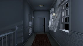 Corridoio spaventoso della casa illustrazione vettoriale