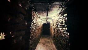 Corridoio spaventoso di orrore, fondo astratto
