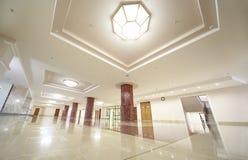 Corridoio spazioso bianco di MSU Fotografia Stock Libera da Diritti