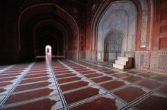 Corridoio a Taj Mahal Fotografie Stock Libere da Diritti