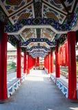 Corridoio tradizionale cinese Immagine Stock