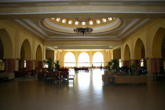 corridoio tunisino di lusso dell'hotel Immagine Stock