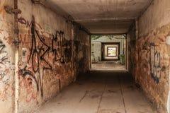Corridoio in un centro urbano Fotografie Stock Libere da Diritti