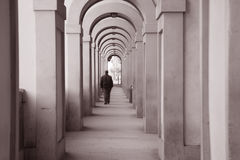 Corridoio Vasariano段落,佛罗伦萨 库存照片