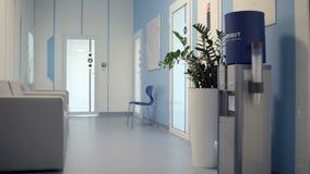 Corridoio vuoto comodo moderno dell'ospedale video d archivio