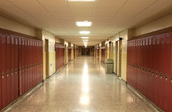Corridoio vuoto del banco Fotografie Stock