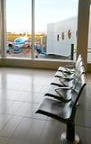 Corridoio vuoto dell'aeroporto Fotografia Stock