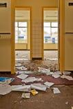 Corridoio vuoto dell'ospedale Immagini Stock