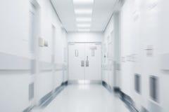 Corridoio vuoto dell'ospedale Fotografia Stock