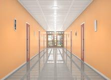 Corridoio vuoto illustrazione 3D Fotografia Stock Libera da Diritti