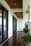 Corridor. Bright corridor in a luxury house Stock Image