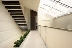 Corridor. With stair in perspective Royalty Free Stock Photography