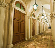 Corridor. Of italian building style Royalty Free Stock Image