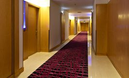Corridor. In hotel with rooms Royalty Free Stock Photography