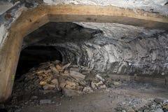 Corridor. Richard Hall underground factories in Litomerice Stock Photography