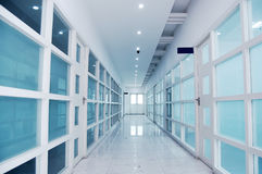 Corridor. Modern business corridor with blue tone Royalty Free Stock Image
