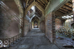 Corridor. In abandoned old Hospital, UK Royalty Free Stock Photos