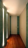 Corridor. Iterior design - corridor with wooden furniture Royalty Free Stock Photography