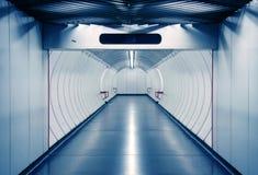 Corridor. Bluish corridor in a subway Royalty Free Stock Images