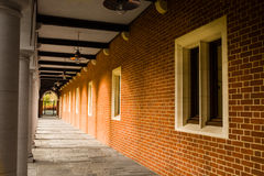 Corridor. Covered outdoors corridor at Selwyn college, Cambridge university, England Stock Photography
