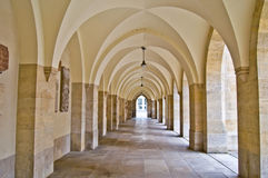 Corridor. View along a long old colonade in Vienna Stock Image
