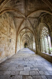 Corridor. Inside Batalha monastery, Portugal Royalty Free Stock Images