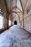 Corridor. Inside Batalha monastery, Portugal Royalty Free Stock Photos