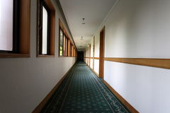 Corridor. With windows in office center Stock Image
