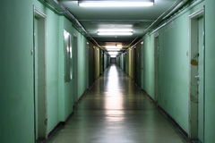 Corridor. A photo of a scary and old corridor in the hospital Royalty Free Stock Photography