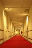 Corridor. Red carpet of the hotel corridor Royalty Free Stock Images