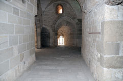 Corridor of an ancient castle Stock Image