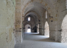 Corridor of an ancient castle. 