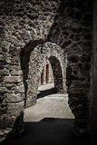 Corridor of an ancient castle Royalty Free Stock Photography