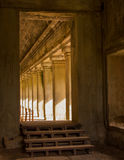 Corridor in Angkor Wat Royalty Free Stock Photo