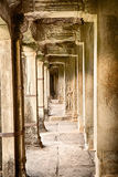 Corridor In Angkor Wat Royalty Free Stock Images