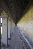 Corridor in Angkor Wat Temple Royalty Free Stock Photography