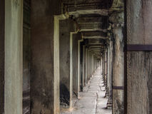 Corridor at Angkor Wat Temple, Siem Reap, Cambodia Royalty Free Stock Image